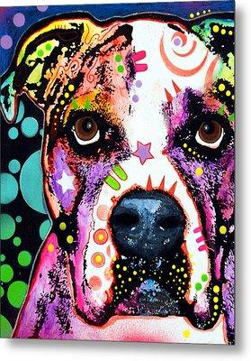 American Bulldog Metal Print by Dean Russo