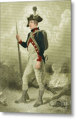 American Continental Soldier Metal Print by Photo Researchers