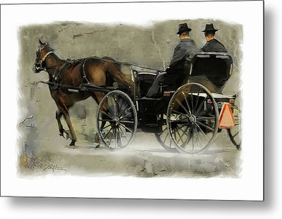 Amish Country Metal Print by Bob Salo