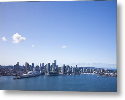 An Aerial View Of The City Of Vancouver Metal Print by Taylor S. Kennedy