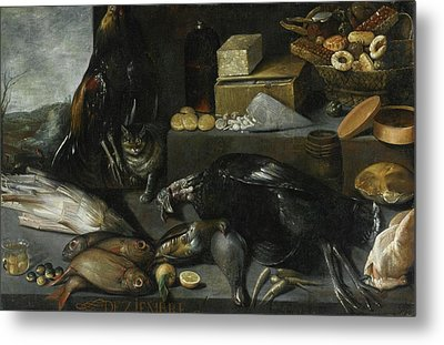 An Allegory Of The Month Of December Metal Print by Francisco Barrera