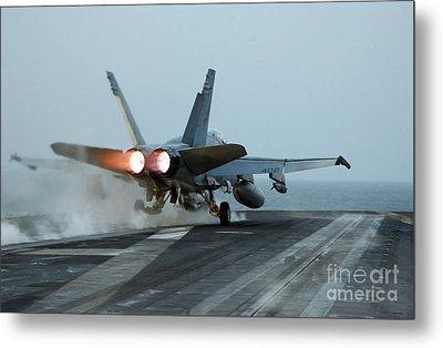 An Fa-18 Hornet Launches Metal Print by Stocktrek Images