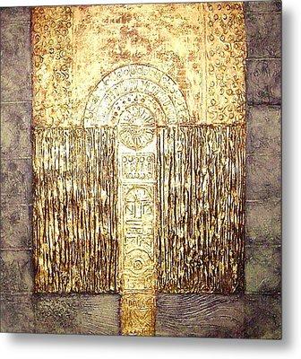 Ancient Golden Temple Metal Print by Bernard Goodman