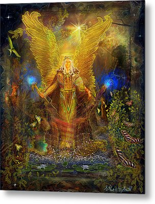Archangel Michael-angel Tarot Card Metal Print by Steve Roberts