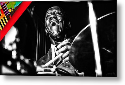 Art Blakey Collection Metal Print by Marvin Blaine