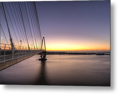 Arthur Ravenel Jr Bridge Sunrise Metal Print by Dustin K Ryan