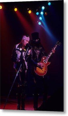 Axl Rose And Slash Metal Print by Rich Fuscia