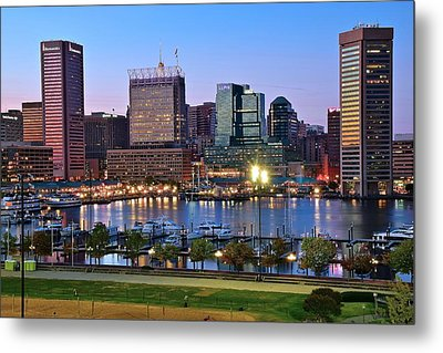 Baltimore Blue Hour Metal Print by Frozen in Time Fine Art Photography