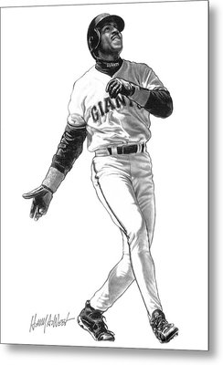 Barry Bonds Metal Print by Harry West