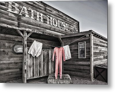 Bath House In Old Tucson Metal Print by Wendy White
