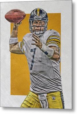 Ben Roethlisberger Pittsburgh Steelers Art Metal Print by Joe Hamilton
