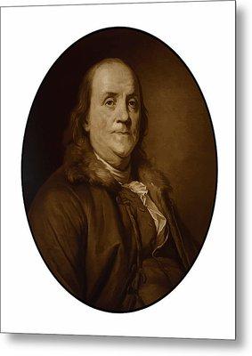 Benjamin Franklin Metal Print by War Is Hell Store