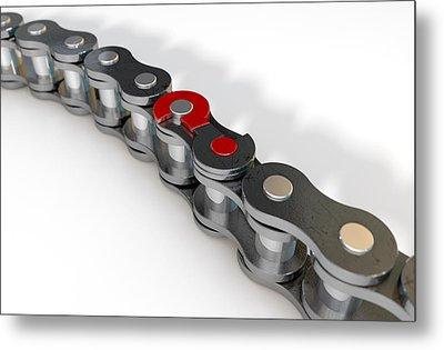 Bicycle Chain Missing Link Metal Print by Allan Swart