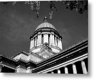 Black And White Metal Print by Kevin D Davis