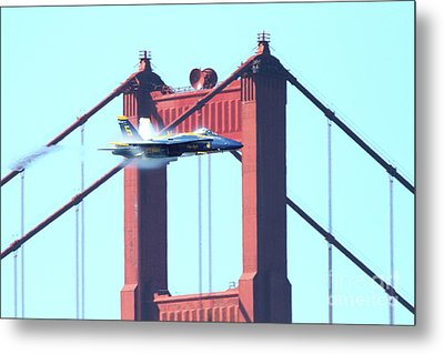 Blue Angels Crossing The Golden Gate Bridge 5 Metal Print by Wingsdomain Art and Photography