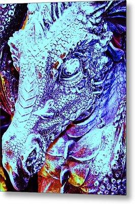Blue-dragon Metal Print by Ramon Labusch