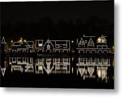 Boathouse Row - Philadelphia Metal Print by Brendan Reals
