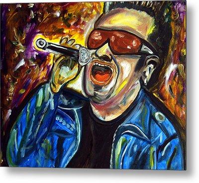Bono  Metal Print by Azalea Millet