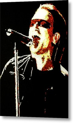 Bono Metal Print by Grant Van Driest
