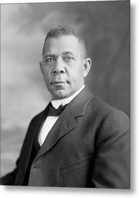 Booker T. Washington Metal Print by War Is Hell Store