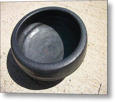 Bowl On Wheel A Metal Print by Leahblair Jackson