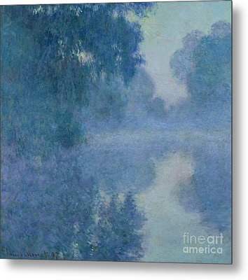 Branch Of The Seine Near Giverny Metal Print by Claude Monet