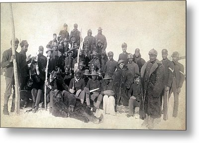 Buffalo Soldiers Of The 25th Infantry Metal Print by Everett