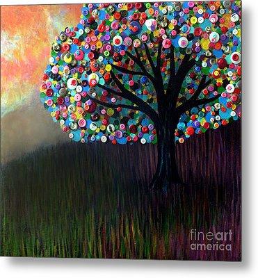 Button Tree 0004 Metal Print by Monica Furlow