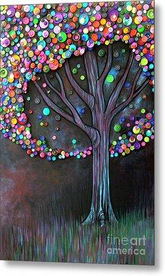 Button Tree 0006 Metal Print by Monica Furlow