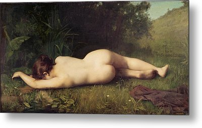 Byblis Turning Into A Spring Metal Print by Jean-Jacques Henner