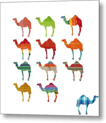 Camels Metal Print by Art Spectrum