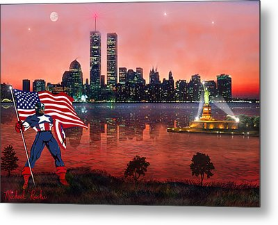Captain America Metal Print by Michael Rucker