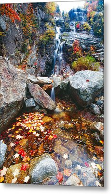 Cascades Of Color Metal Print by George Oze
