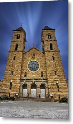 Cathedral On The Plains Metal Print by Thomas Zimmerman