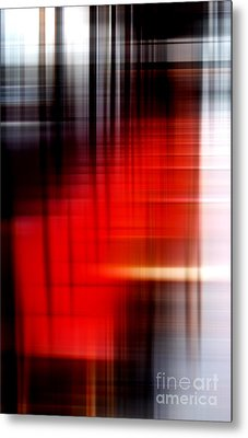 Chaises Rouges Metal Print by John Rizzuto