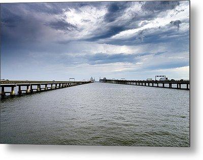 Chesapeake Bay Bridge Maryland Metal Print by Brendan Reals