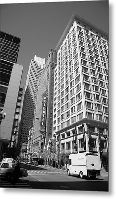 Chicago Downtown Metal Print by Frank Romeo