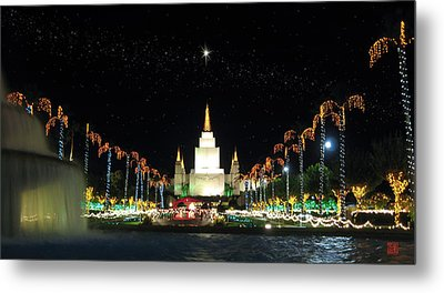 Christmas On Temple Hill Metal Print by Geoffrey C Lewis