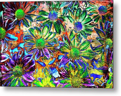Chrysanthemums Metal Print by Skip Nall