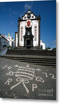 Church In The Azores Metal Print by Gaspar Avila