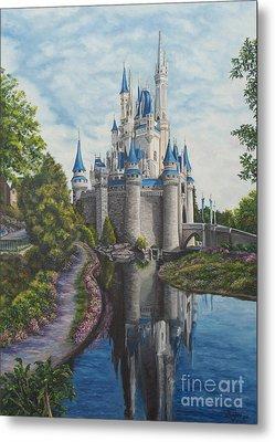Cinderella Castle  Metal Print by Charlotte Blanchard