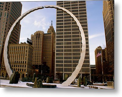 Circle Of Labor Metal Print by Sonja Anderson