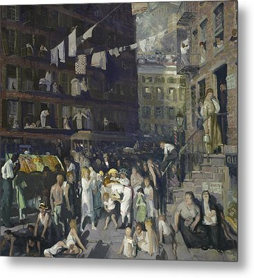 Cliff Dwellers Metal Print by George Wesley Bellows