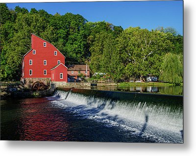 Clinton New Jersey - The Red Mill Metal Print by Bill Cannon