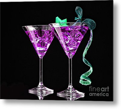 Cocktails Collection Metal Print by Marvin Blaine