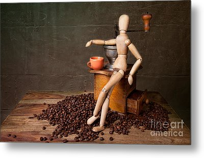 Coffee Break Metal Print by Nailia Schwarz