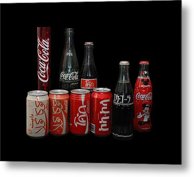 Coke From Around The World Metal Print by Rob Hans