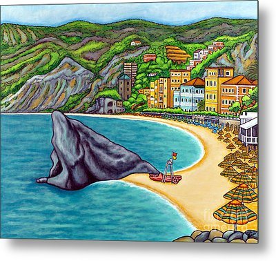 Colours Of Monterosso Metal Print by Lisa  Lorenz
