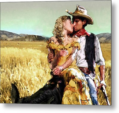 Cowboy's Romance Metal Print by Mike Massengale