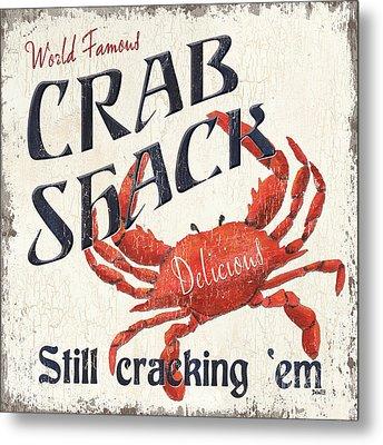Crab Shack Metal Print by Debbie DeWitt